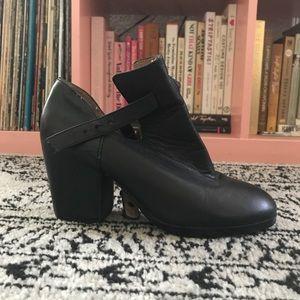 Black Ankle Strap Booties - Sz 7.5